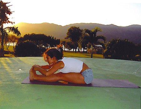 Paschimottanasana Forward Bend Yoga Pose