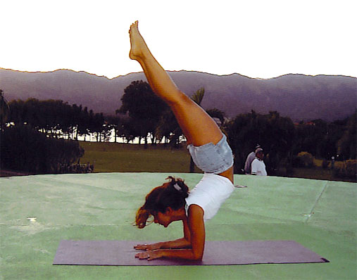 Scorpion Yoga Pose Monica Hornung